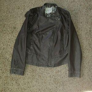 Faux leather Moto jacket XXL